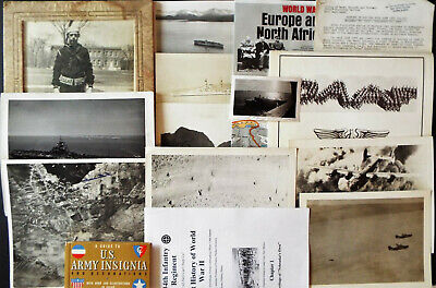 Large Lot Of Ww 2 Ephemera With Original Bombing Photos
