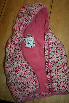 Girls Pink Floral Hooded Gilet, Age 5-6 by Mantaray at Debenhams