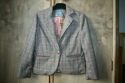 Girls Tweed Jacket with Exotic Animal Lining, Age 6 Yrs from NEXT