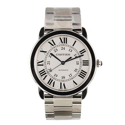 Cartier Ronde Steel Automatic 36 mm Automatic MidSize Watch WSRN0012 Complete