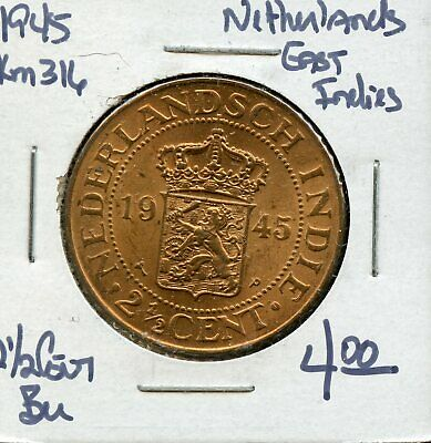 Netherlands East Indies 1945 1//2 Cent Uncirculated KM314.2