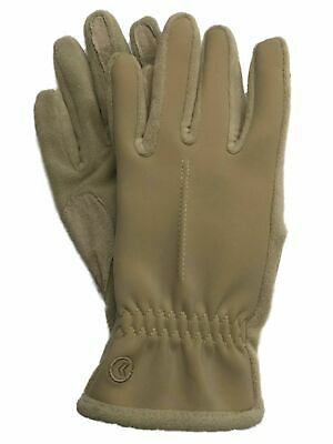 Isotoner Active Smart Touch Womens Camel Tan Touchscreen Tech Stretch Gloves