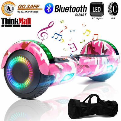 """6.5"""" Bluetooth Hoverboard LED Self Balancing Electric Scooter UL2272 A12 No Bag"""