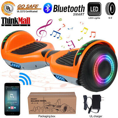 "6.5"" Bluetooth Hoverboard LED Self Balancing Electric Scooter UL Black No Bag"