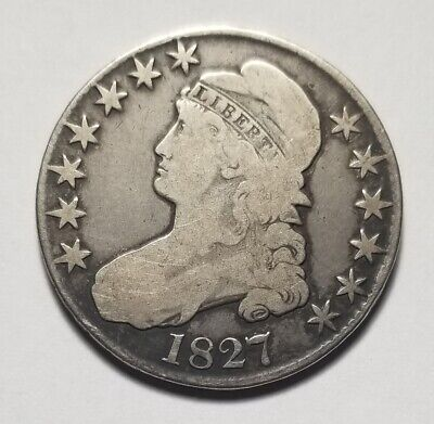 1827 (Square Base 2) 50c United States Capped Bust Half Dollar
