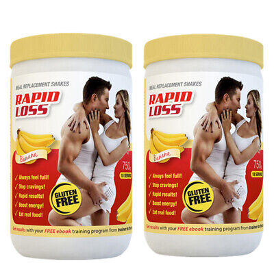 Rapid Loss Banana Meal Replacement 750g Shakes Twin Pack Banana 2X Bundle
