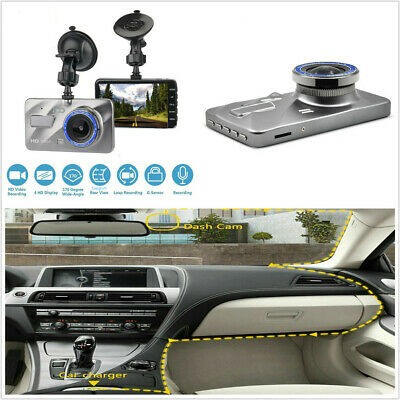 """4"""" HD 1920*1080P Car DVR Touch Screen Dashcam Camera Video Recorder SD+Charger"""