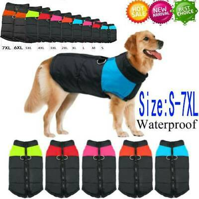 Muti-size Waterproof Dog Clothes Autumn Winter Warm Padded Pet Coat Vest Jacket