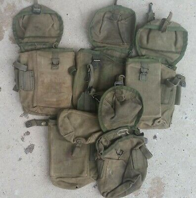 AUSTRALIAN ARMY VIETNAM AMMO POUCH LARGE ORIGINAL ISSUE VGC 1960's TO 80's MADE