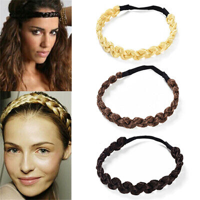 Bohemian Easy-Wear Hairband Elastic Twist Braided Headband Plait Hair Band