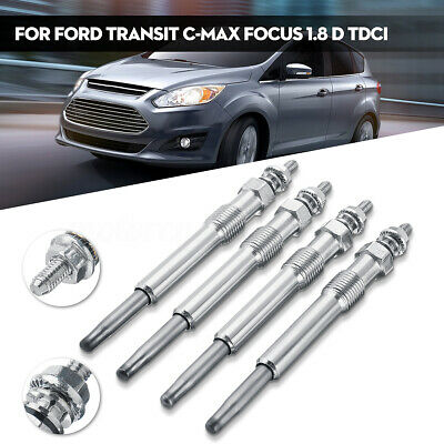 4X FOR FORD FOCUS II FOCUS C-MAX 1.6 TDCI PIN TYPE DIESEL HEATER GLOW PLUGS