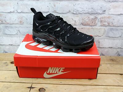 Mens Nike Air Vapormax Plus Black Active Fitness Sports Trainers Size 8 Rrp £170