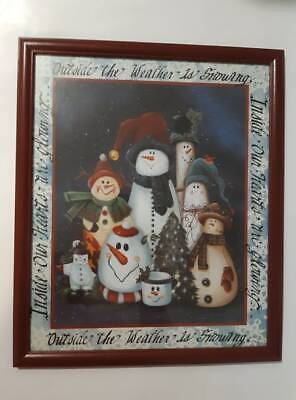Home Interiors Gifts Large Wood Framed Picture Christmas