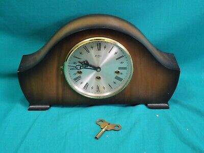 Vintage Bentima 8 Day Chiming Wind-Up Mantel Clock. Not working. (Hospiscare)
