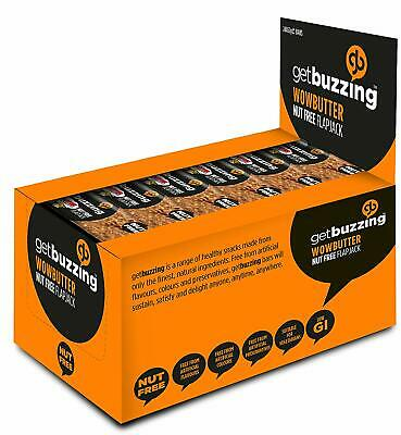 getbuzzing Nut Free Flapjack - Woebutter -Pack of 24 x 62g