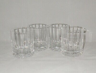 Mikasa Montecito Crystal Double Old Fashioned Glasses Tumblers (4)
