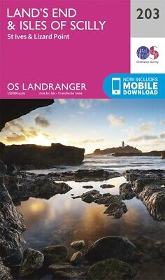 Lands End & Isle of Scilly OS Landranger Map 203