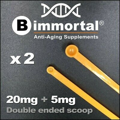 2-in-1 Static Free 5mg + 20mg Micro Scoop, Supplements Measuring Spoon x 2