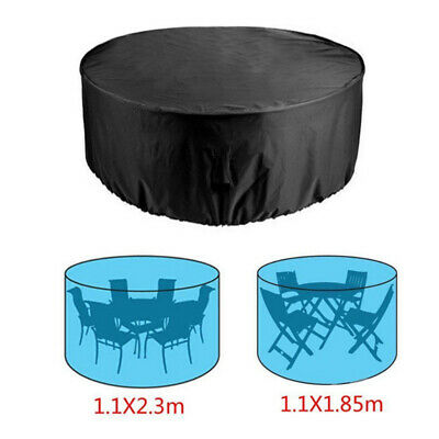 Large Round Outdoor Garden Patio Table Chair Set Furniture Cover Decor Dustproof