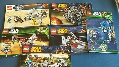 6 Lego Star Wars instruction Booklets only