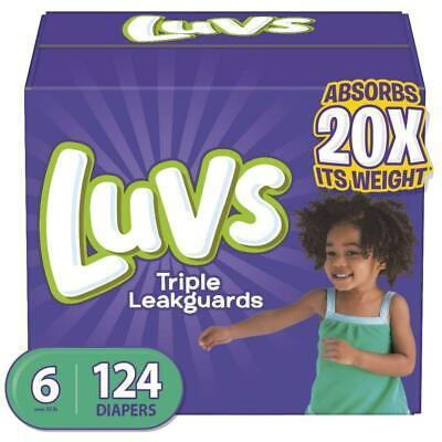 Diapers Size 6, 124 Count - Luvs Ultra Leakguards Disposable Baby 6