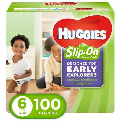 HUGGIES Little Movers Slip On Diaper Pants, Size 6 6