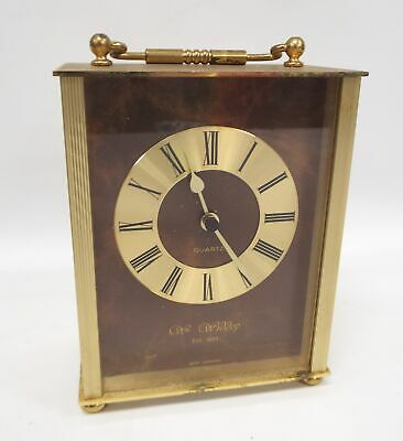 Vintage WM WIDDOP Quartz Battery Operated Carriage Clock - Spares/Repairs - P31