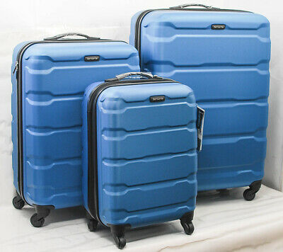 Samsonite Omni Hardside 3 Piece Nested Spinner Luggage Set Caribbean Blue