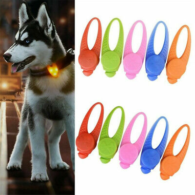 Pet Dog Cat Puppy Mini LED Flashing Collar Tag Clip Buckle Night Light Pendant