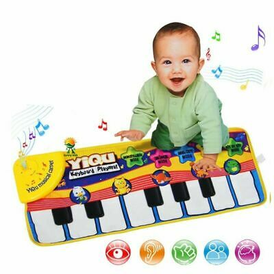 Kids Music Piano Keyboard Dance Floor Mat Early Education Toys For Baby Toddler