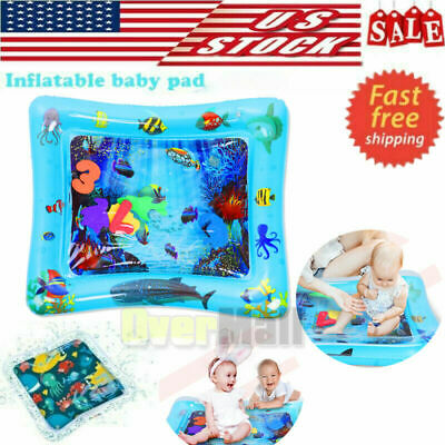 Children Inflatable Water Play Mat Baby Tummy Time Toddlers Brain Development US
