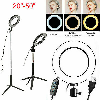 Studio LED Ring Light Dimmable Lamp YouTube Video Make-up Selfie Camera Phone