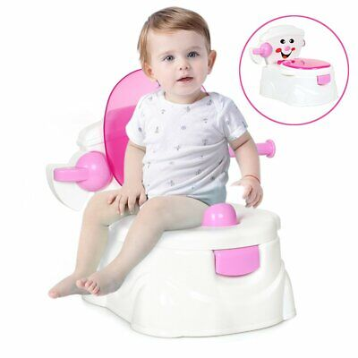 2 in 1 Baby Potty Toddler Training Toilet Seat Safety Portable Kid Urinal Chair