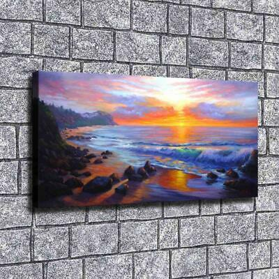 """12""""x24""""Oil painting sunset HD Canvas print Painting Home Decor Picture Wall art"""