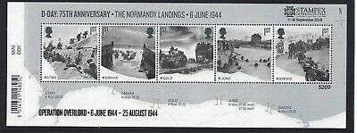 GREAT BRITAIN 2019 STAMPEX OVERPRINT D-DAY UM, MNH, No. 5269 LIMITED EDITION