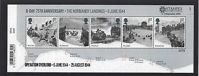 GREAT BRITAIN 2019 STAMPEX OVERPRINT D-DAY UM, MNH, No. 5270 LIMITED EDITION