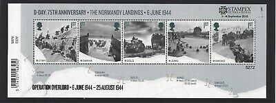 GREAT BRITAIN 2019 STAMPEX OVERPRINT D-DAY UM, MNH, No. 5272 LIMITED EDITION