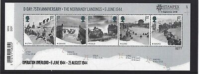 GREAT BRITAIN 2019 STAMPEX OVERPRINT D-DAY UM, MNH, No. 5277 LIMITED EDITION