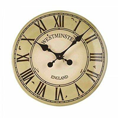 Outside-In Westminster Tower Cream 12in Wall Clock (5065043)