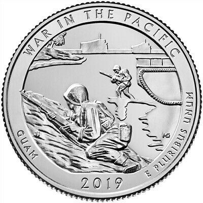 US State Park Quarters - 2019 War in the Pacific- P/D/S Uncirculated - UK Stock