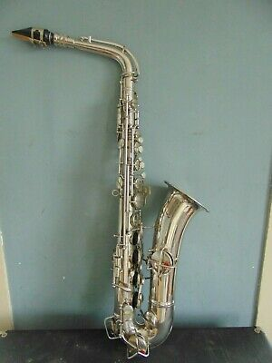 Vintage 1922 Conn Nickel Plated C Melody Saxophone