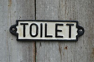 Vintage Style Cast Iron Railway Station Toilet Door Sign Plaque Pp2