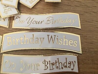 Happy Birthday X 20 Banners//embellishments//captions//toppers card Making