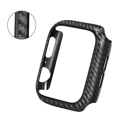 Carbon Fiber PC Case Protective Frame For Apple Watch Series 4321 38/40/42/44mm