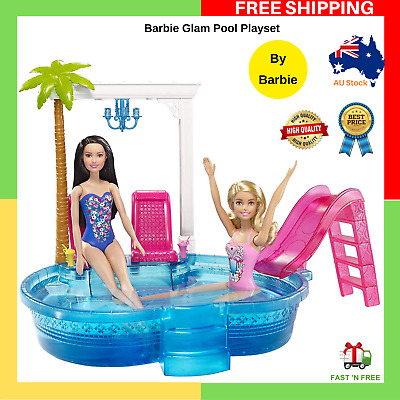 NEW Barbie Glam Pool Playset Barbie Doll Accessories Perfect Gifts FREE SHIP AU