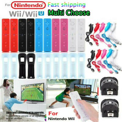 Nunchuck Console + Built in Motion Plus Remote for Nintendo Wii/Wii U Controller