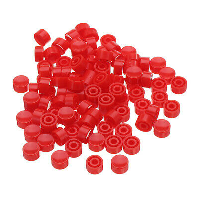 100 Pcs Micro Switch Tact Cap Slim Cap Tactile Push Button Switch Momentary Tact