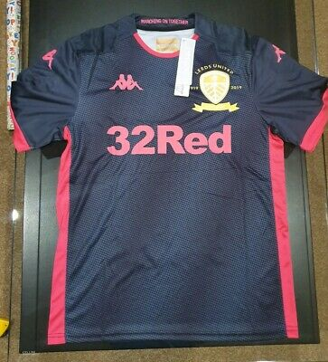 Leeds United Away Small Adult Shirt 2019/20 Kapppa short sleeve BNWT