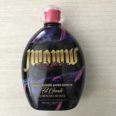 Jwoww Fit Goals Private Reserve Amped Edition DHA Bronzer Tanning Lotion 13.5 oz