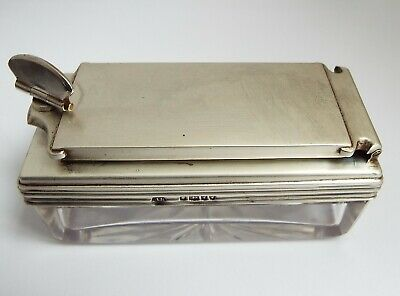 Fine Clean Rare Antique Victorian 1846 Sterling Silver Lock Down Travel Inkwell